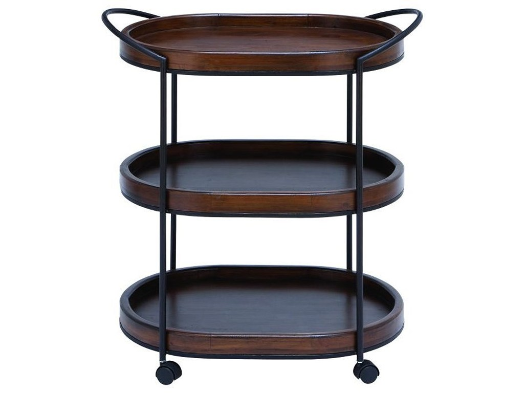 uma enterprises inc accent furniture metal wood tier bar cart products color tiered table furnituremetal nook plus cymbal stand modern legs folding black wrought iron patio end