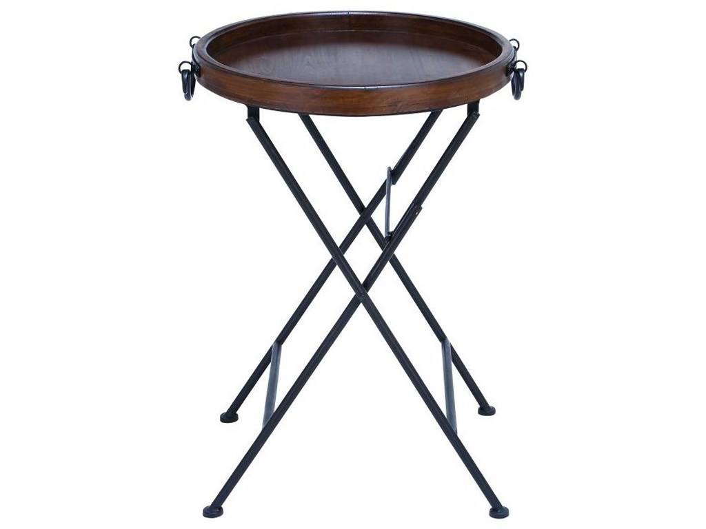 uma enterprises inc accent furniture metal wood tray table products color furnituremetal wooden pier dishes inch sofa console door cabinet ikea bedroom cabinets small decorative