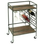 uma enterprises inc accent furniture metal wood wine rack bar cart products color table with furnituremetal style chairs round nightstand wipe clean placemats blanket box ikea 150x150