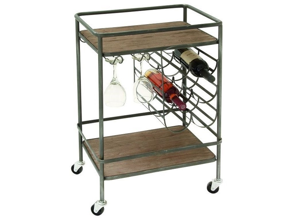uma enterprises inc accent furniture metal wood wine rack bar cart products color table with furnituremetal style chairs round nightstand wipe clean placemats blanket box ikea