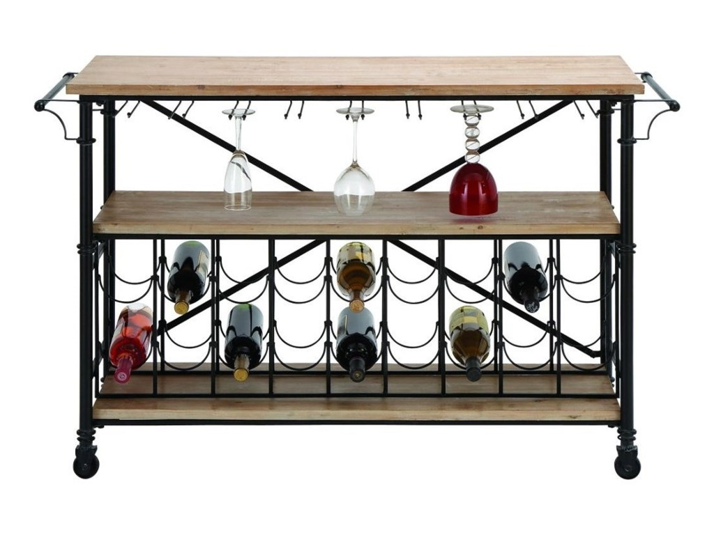 uma enterprises inc accent furniture metal wood wine rack table products color with furnituremetal double vanity small side storage style chairs outdoor patio and grey bedside