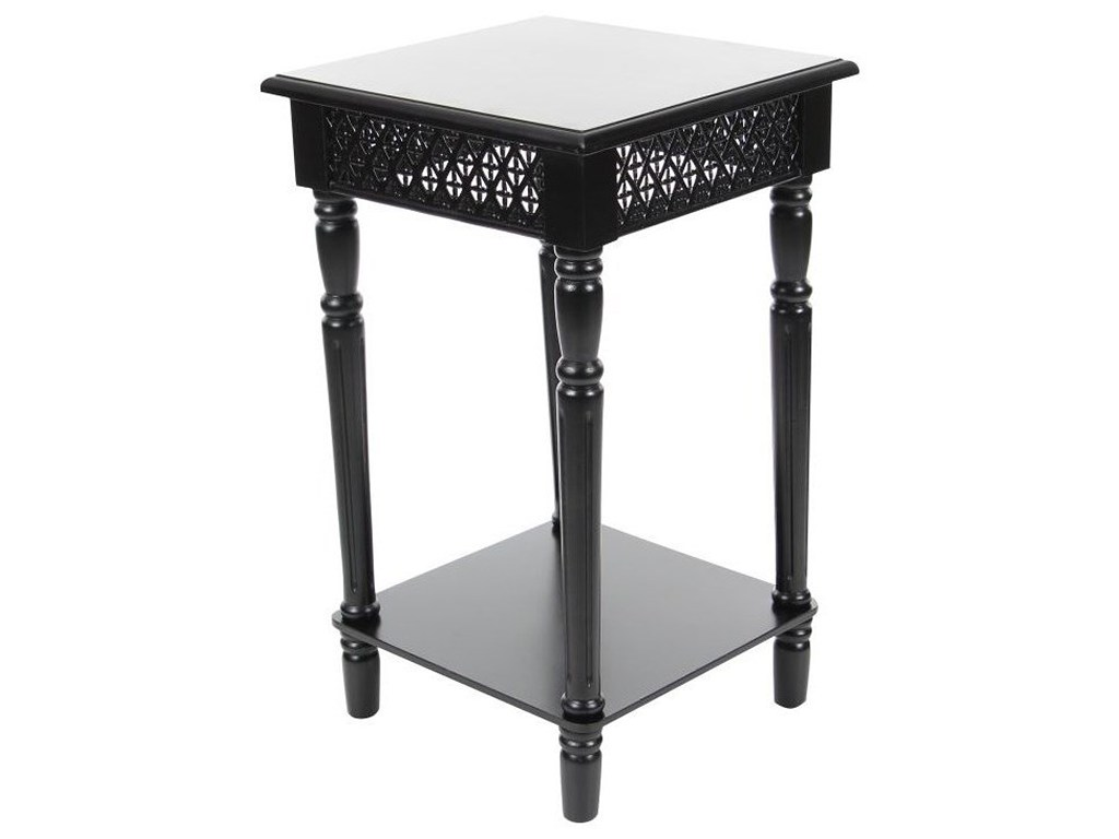 uma enterprises inc accent furniture wood black side table products color white marble cocktail round tablecloth unique tables living room sofa for small space cherry end with