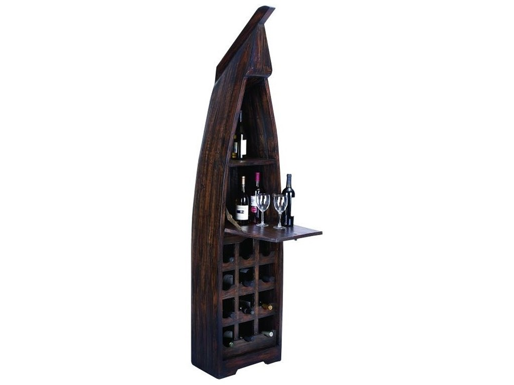 uma enterprises inc accent furniture wood boat wine cabinet products color table with rack furniturewood high end side tables ikea kids storage boxes console decor small black