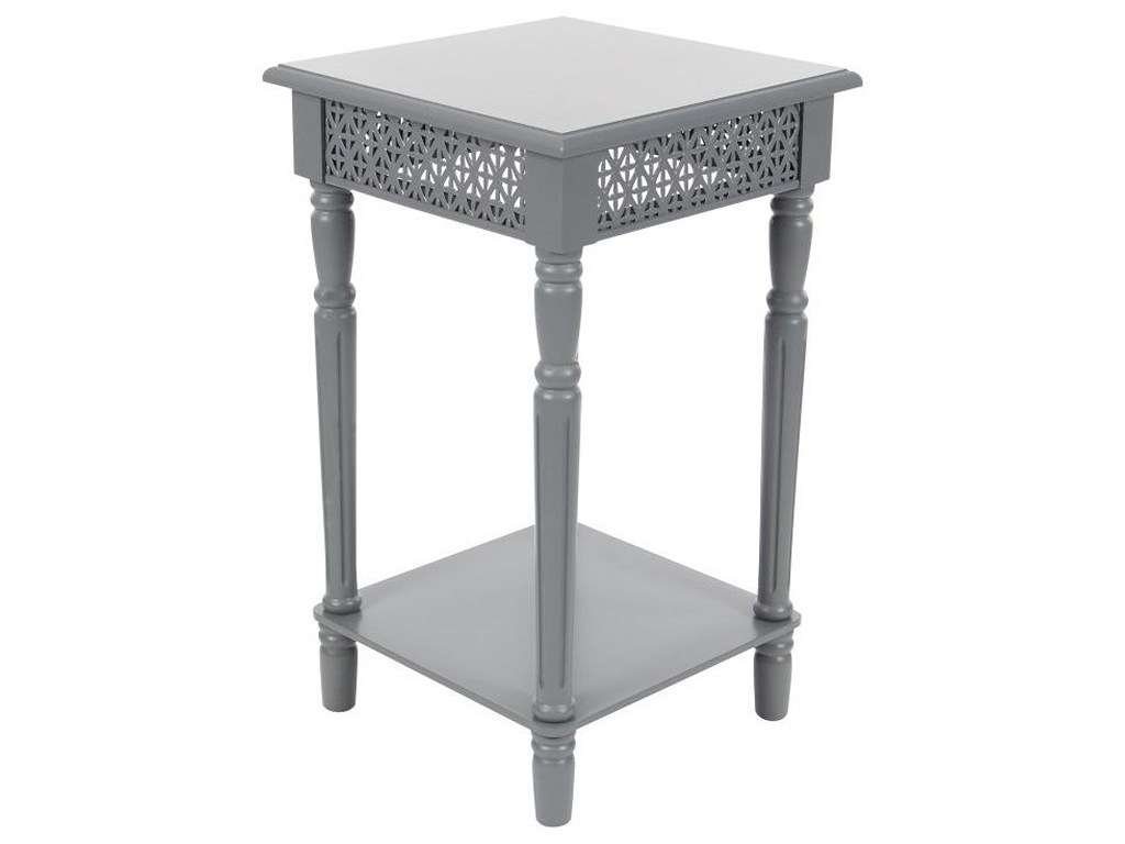 uma enterprises inc accent furniture wood grey side table howell products color threshold mosaic furniturewood winsome curved nightstand tiffany stained glass chandelier battery