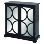 uma enterprises inc accent furniture wood mirror black cabinet products color table with wine rack furniturewood wipe clean placemats outdoor patio and chairs contemporary barn 150x150