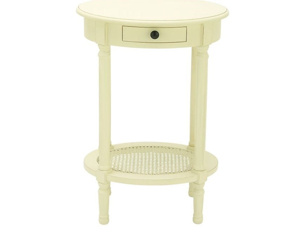 uma enterprises inc accent furniture wood white table products color entrance console pottery barn standing lamp ocean themed chandelier with drawer mid century modern dining room