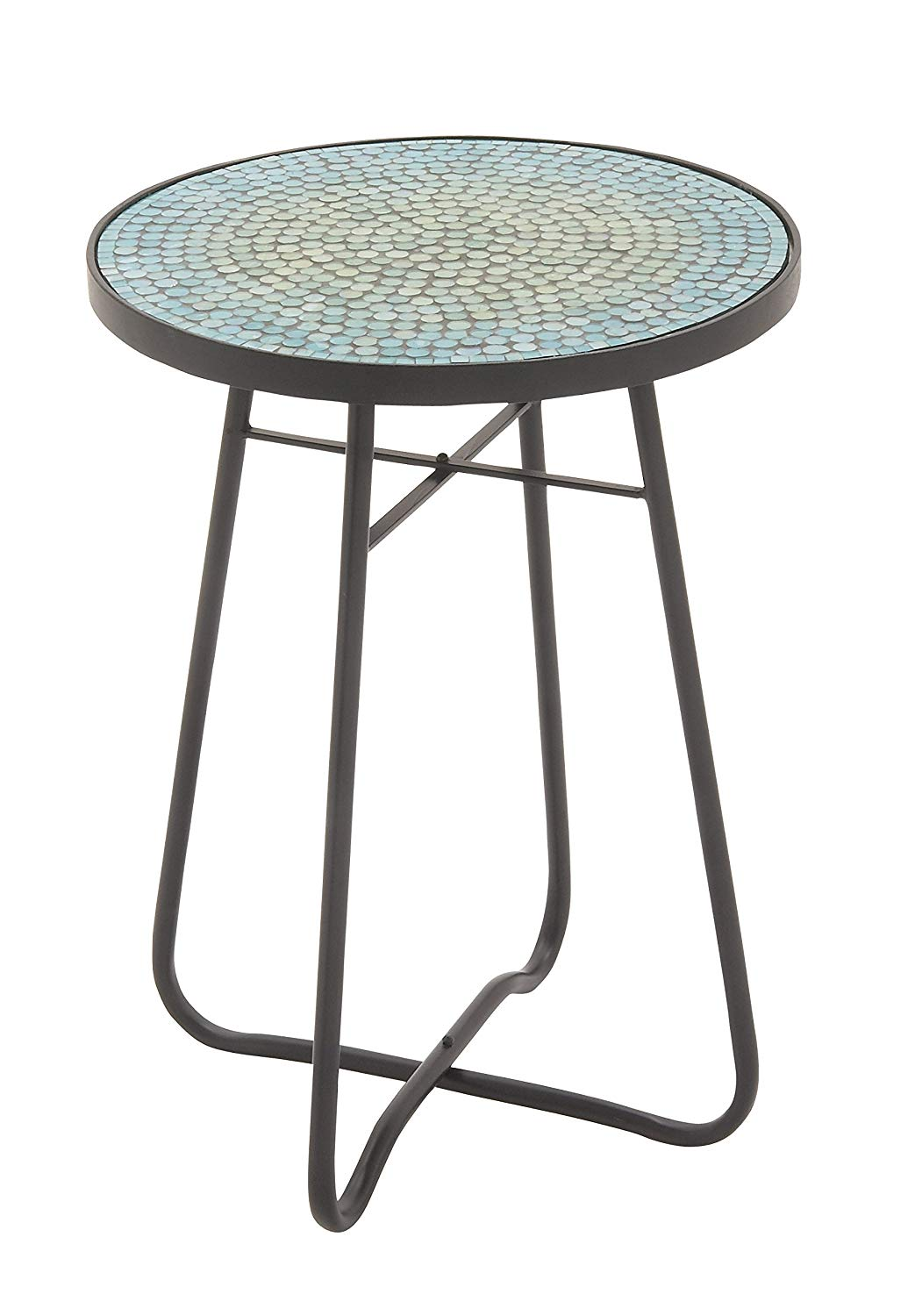uma enterprises metal glass turquoise accent table red round inch width height kitchen dining furniture choice old wooden small trestle legs skinny sofa counter set oriental lamp
