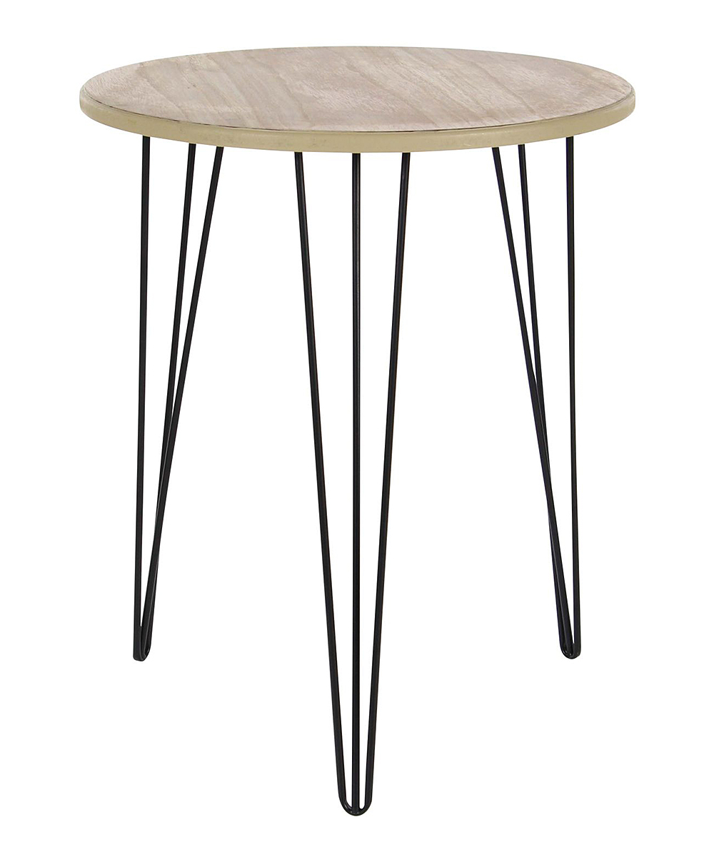 uma modern wood accent table zulily main share pier imports patio furniture coffee tables hairpin leg pottery barn decor corner end side with umbrella hole sofa wooden farmhouse