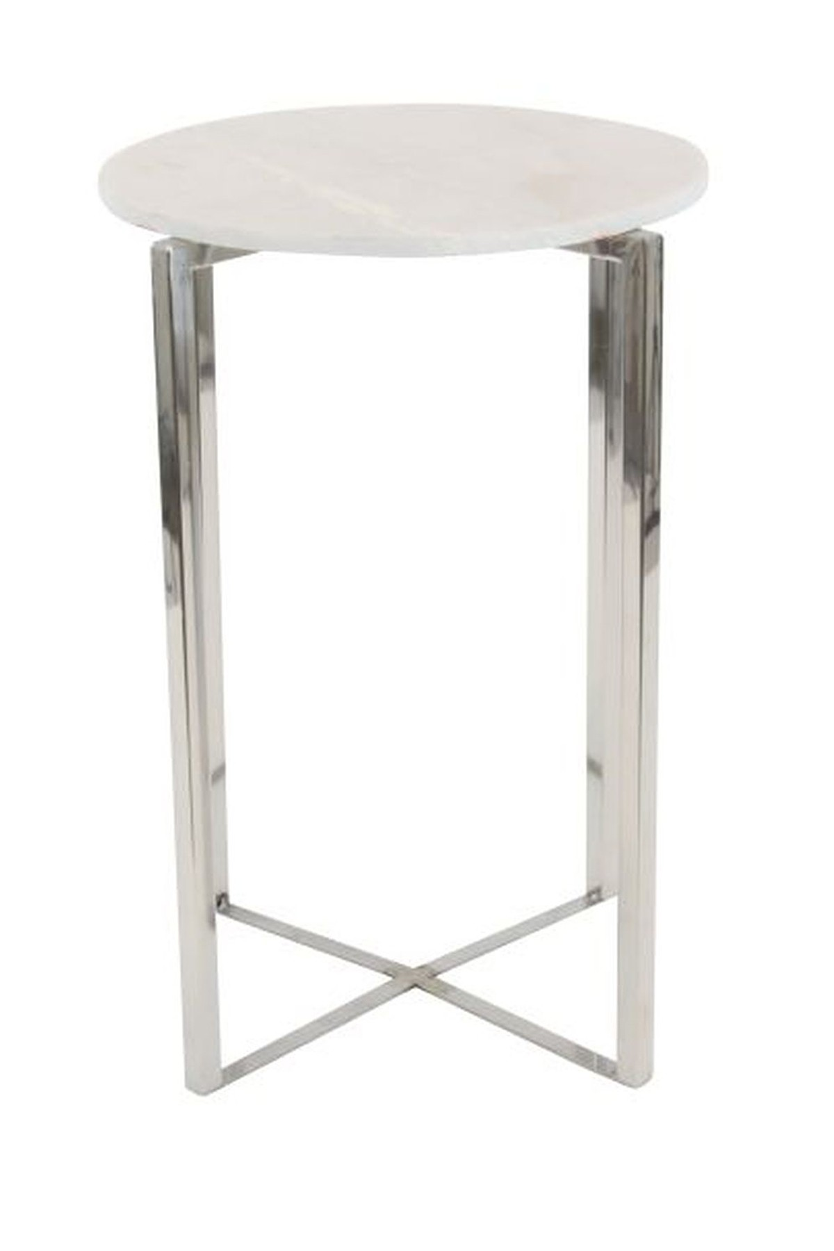 uma white silver stainless steel marble accent table nordstrom rack threshold gold side contemporary coffee tables toronto tiffany lily lamp dark farmhouse small wicker chair red