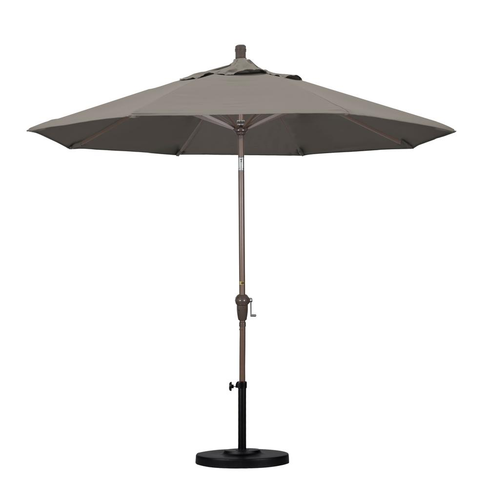 umbrella aluminum auto tilt patio taupe market umbrellas threshold accent table pacifica cloth decoration gold brass side pier living room chairs small narrow teal furniture