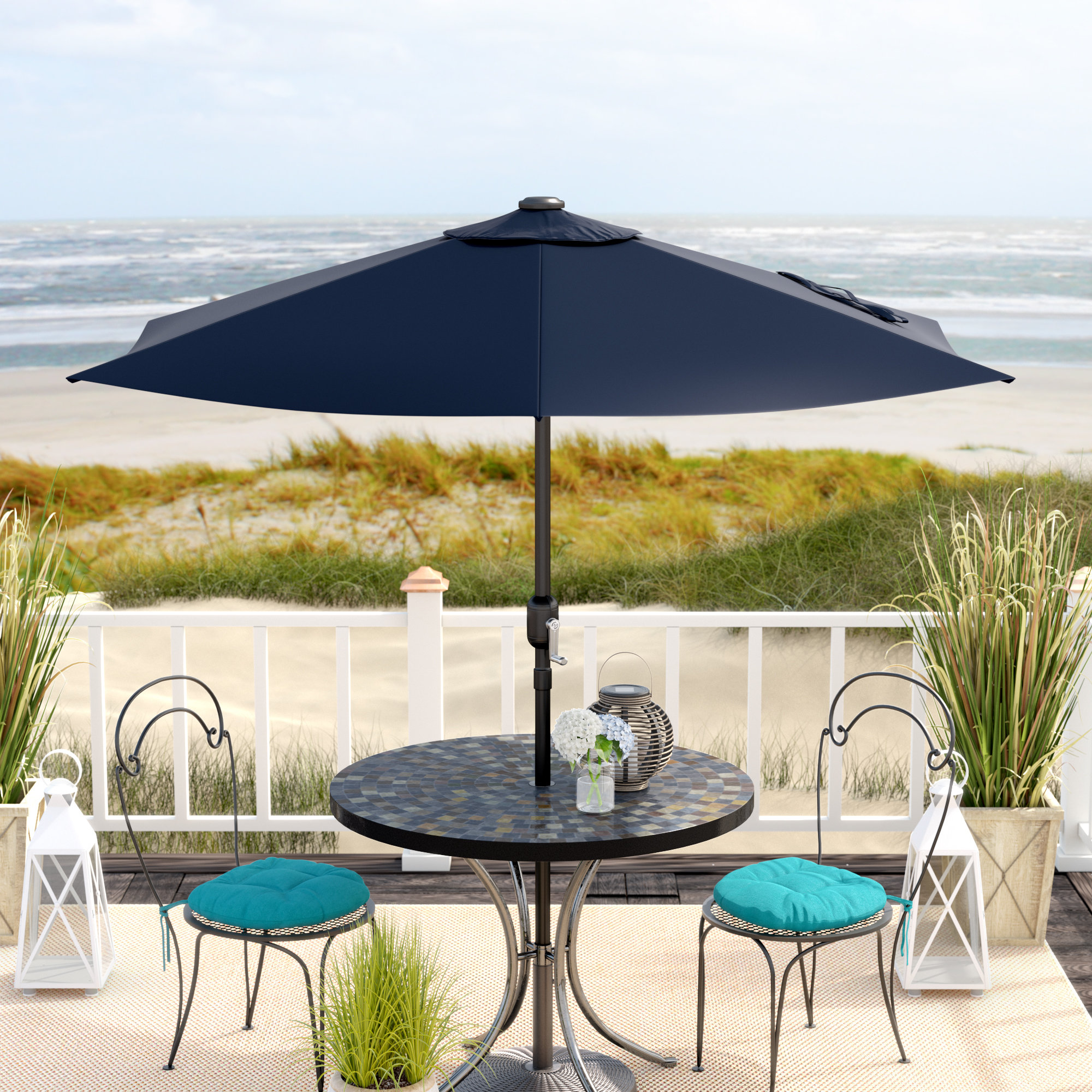 umbrella side table allport market outdoor quickview patio umbrellas cream tablecloth rattan end tables with glass top dining accents quality furniture simple console antique