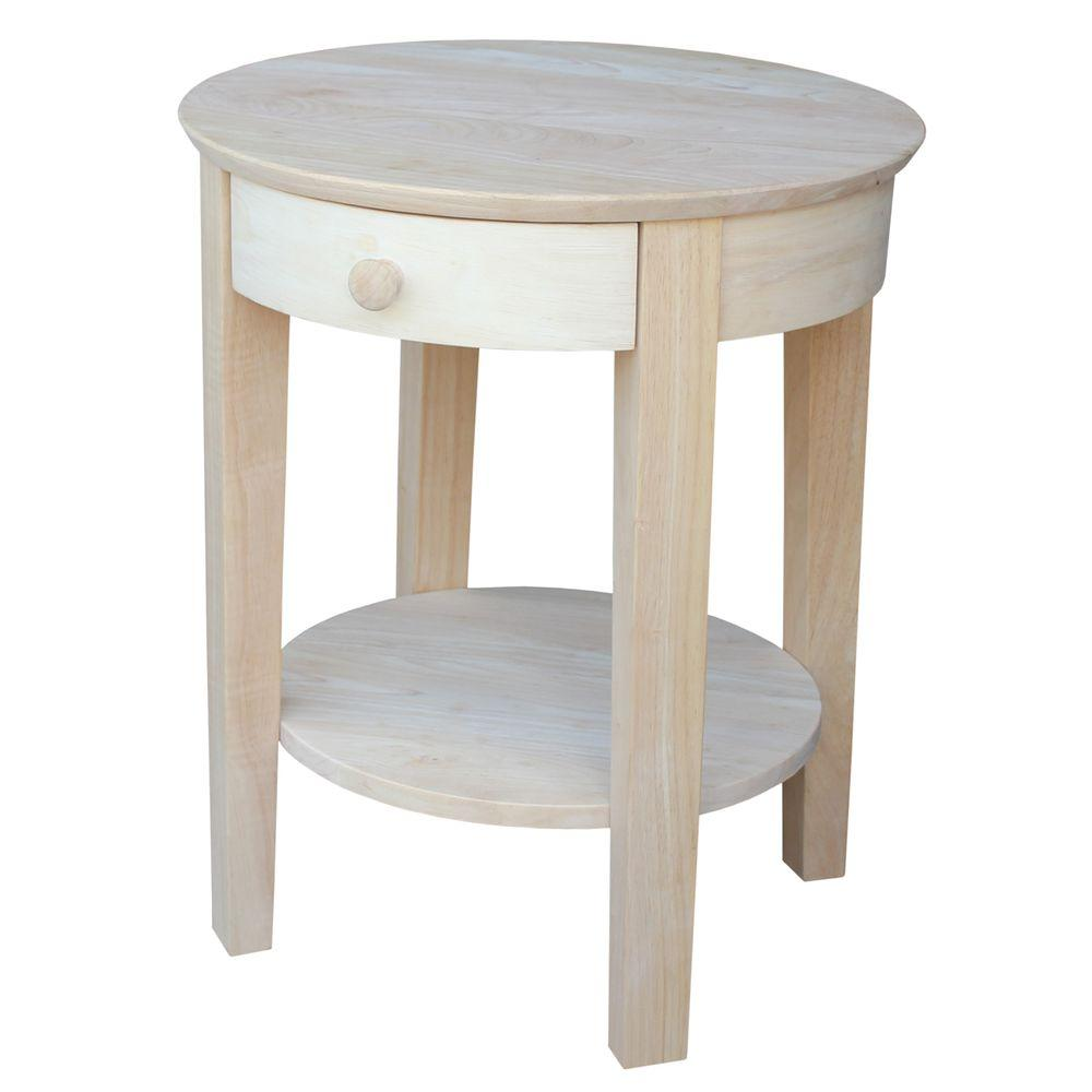 unfinished accent table excellent outdoor international concepts portman end round small black garden side glass coffee hairpin bedside threshold metal with wood top navy lamp
