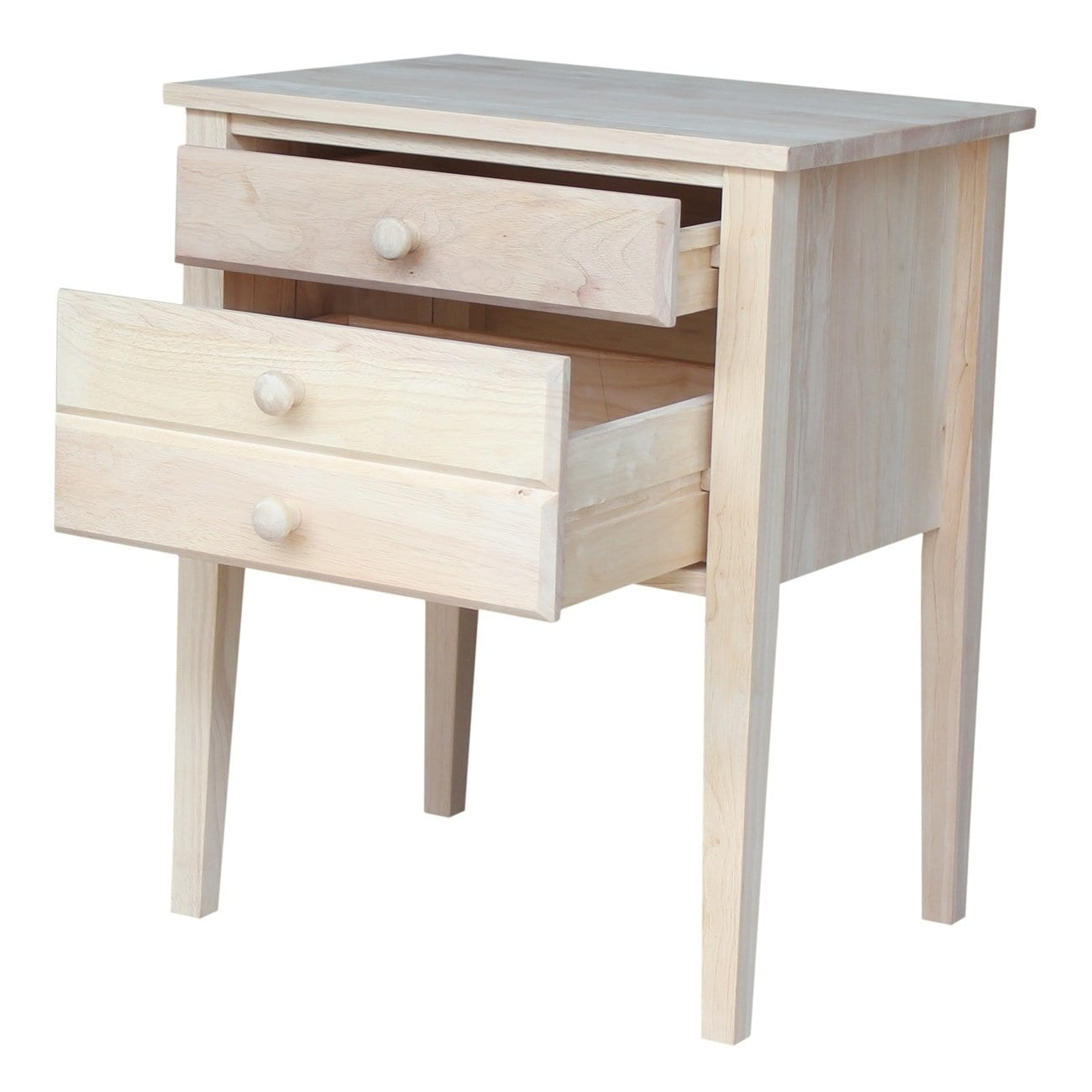 unfinished solid parawood drawer accent table free shipping today valley city furniture patio mississauga skinny runner painted console antique tiffany lamps small decorative