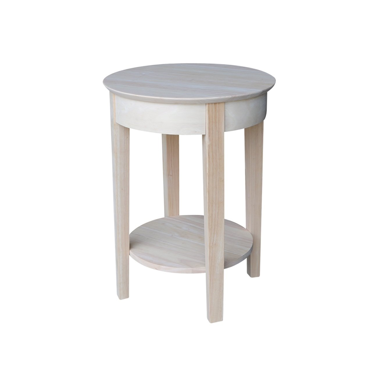 unfinished solid parawood philips accent table free shipping wood today entrance piece pub set side chairs white end pier one imports dining room sets bar height bohemian coffee