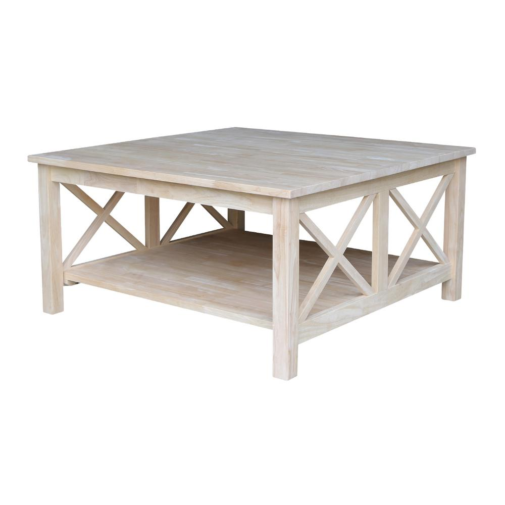 unfinished wood coffee tables accent the international concepts round table hampton patio dining set reclaimed chairs white and grey marble affordable sets small retro sofa