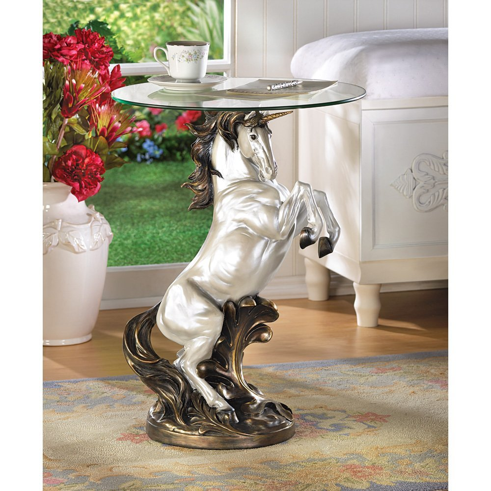unicorn accent table tiffany lily lamp outdoor beverage cooler home goods patio furniture versailles large dining room chairs indoor nautical ceiling lights pier one shower