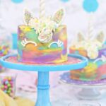 unicorn cakes sugarhero accent table colorful miniature from college dorm room decor rattan garden furniture homebase tall marble side nautical hanging lamps large dining chairs 150x150