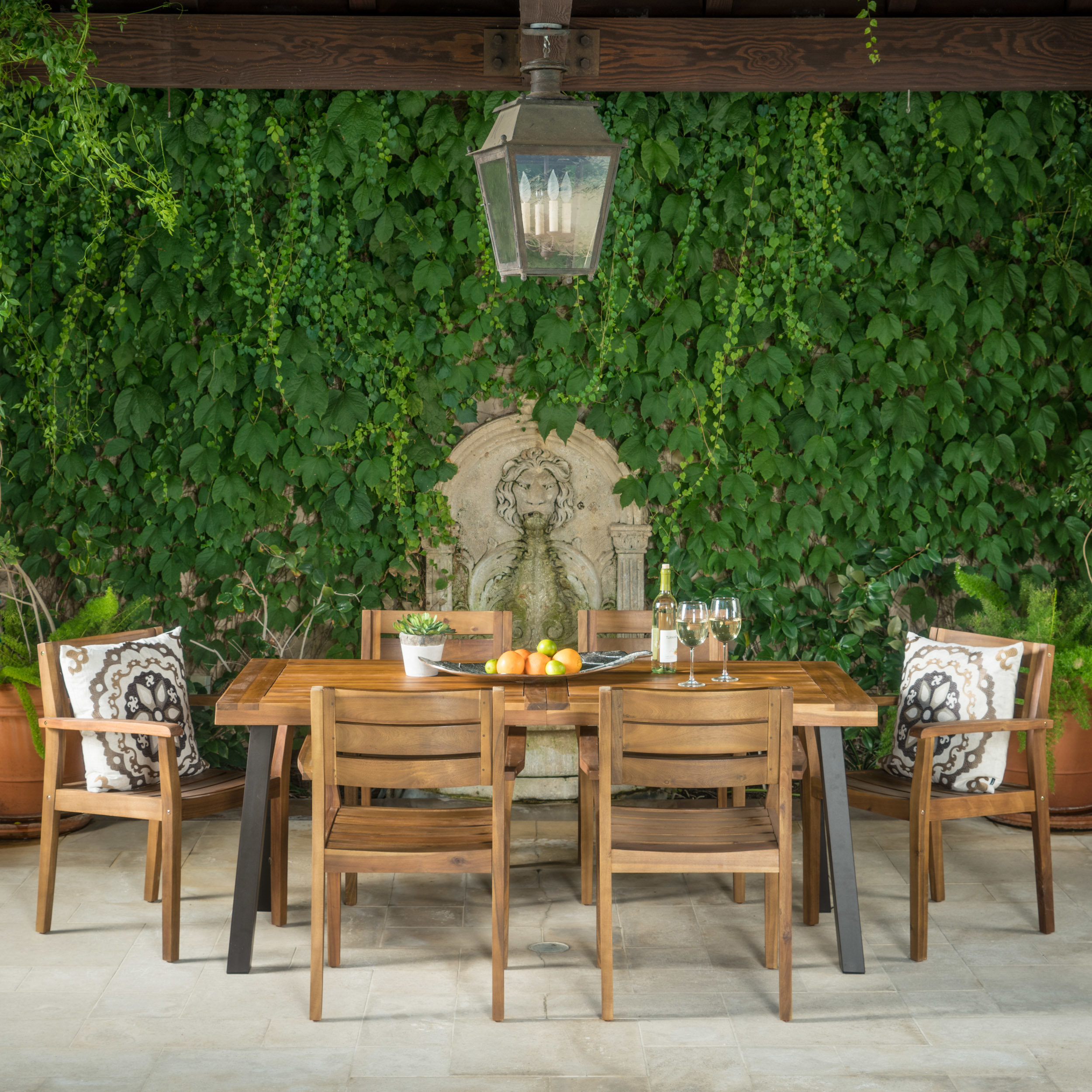 union rustic adair outdoor piece dining set reviews accent chair and table sideboard cabinet ashley furniture counter height quatrefoil side over sofa arm three nesting tables