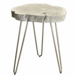 union rustic burch acacia wood and wrought iron end table reviews accent kitchen placemats mid century modern round outdoor cocktail trestle bench legs hairpin side pier one 150x150