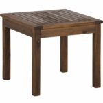 union rustic luyster wooden side table reviews outdoor wood pier dining furniture trestle base hollywood mirrored ethan allen nesting tables cooler piece setting bunnings round 150x150