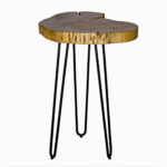 union rustic tindle live edge hairpin end table room essentials accent owings target mid century modern furniture legs small side with marble top farm style coffee brass long 150x150