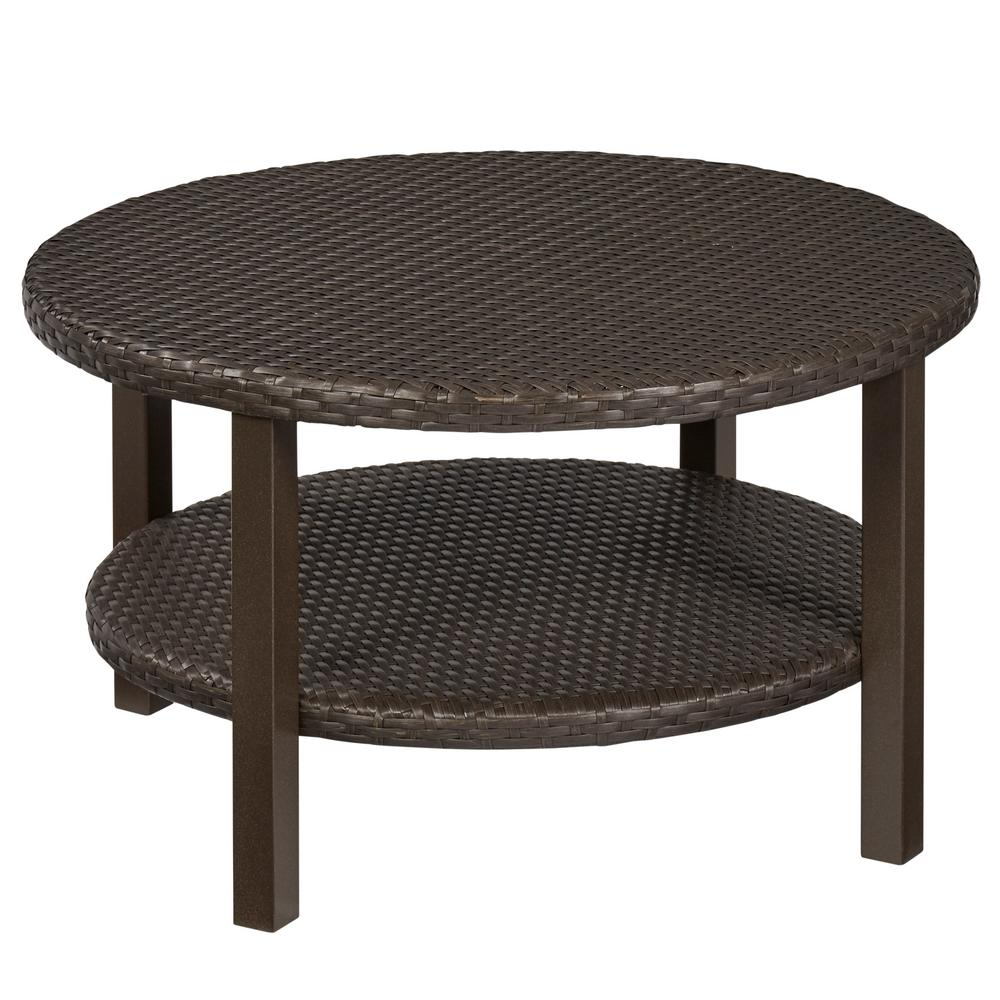 unique end tables diy the fantastic beautiful brown wicker outdoor hampton bay torquay coffee table with shelf high quality dining room furniture credenza drum side round top