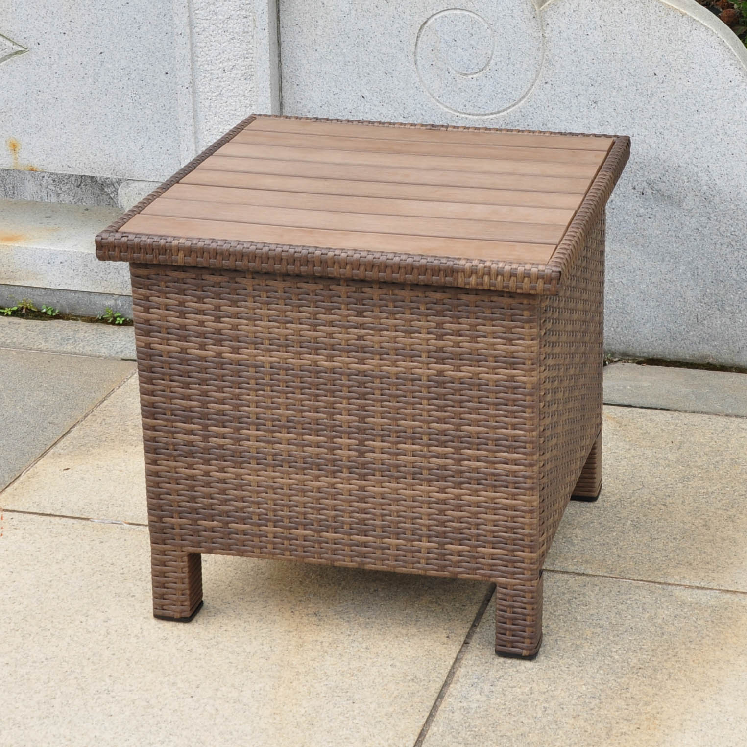 unique end tables diy the fantastic beautiful brown wicker outdoor patio abn table antique quick view vintage nightstands formica extra large dog crate sectional couch runners