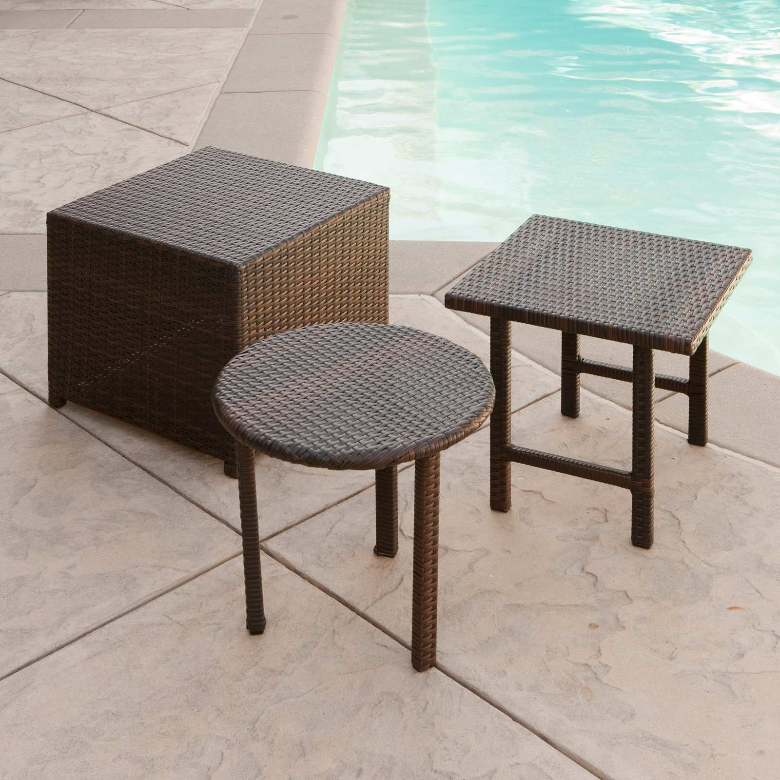 unique outdoor wicker end tables for round side table patio attractive palmilla set accent small metal ikea cube storage living room cabinets furniture legs pottery barn drum