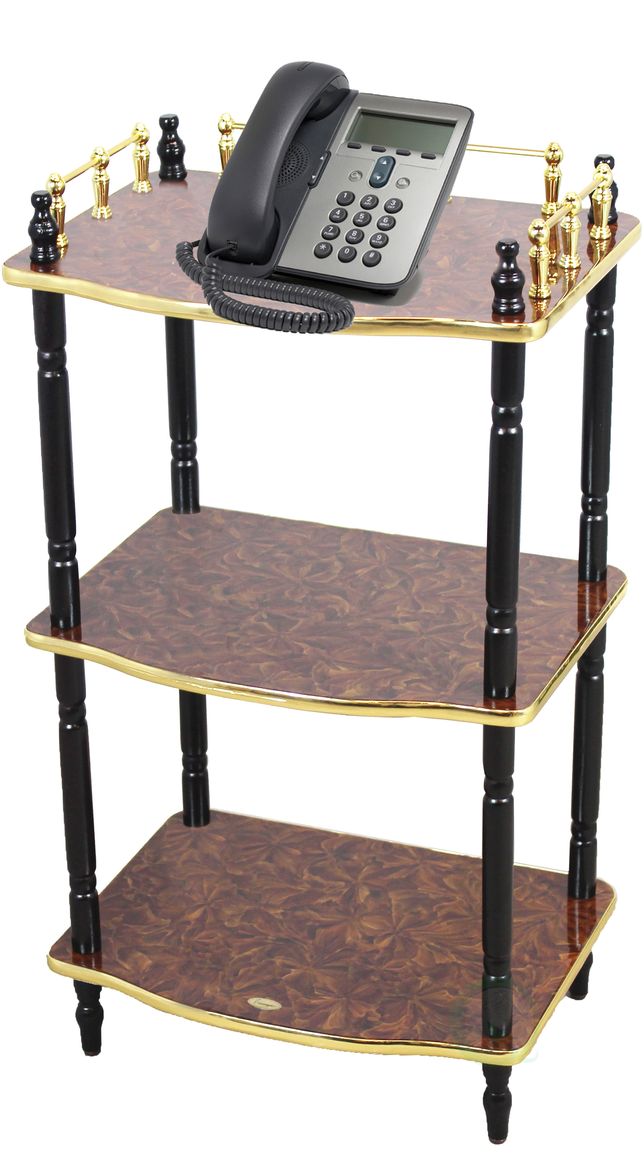 uniquewise tier telephone table small book shelf accent side and end tiffany rooster lamp tile top coffee ashley furniture metal dining room legs grey corner bedside base square
