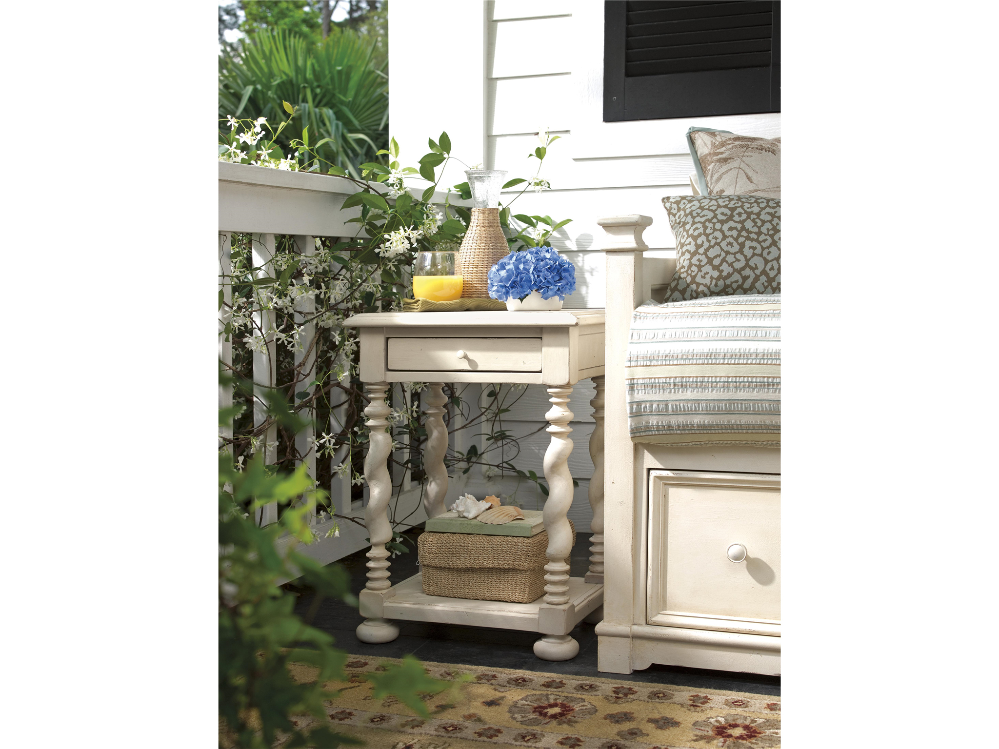 universal furniture accent tables end paula deen home table with built power strip dog crates that look like elephant over chair carolina panthers license plate tall bedside