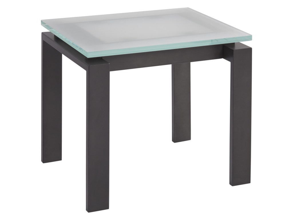 universal spaces mixed media vance end table with dark bronze base products color ryder small accent mediavance door threshold hampton bay furniture modern white glass coffee