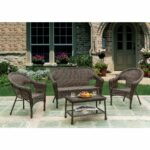 unlimited brown wicker piece outdoor furniture set free storage accent patio table shipping today over the couch shades light coupon glass floor lamp under worlds away round gold 150x150