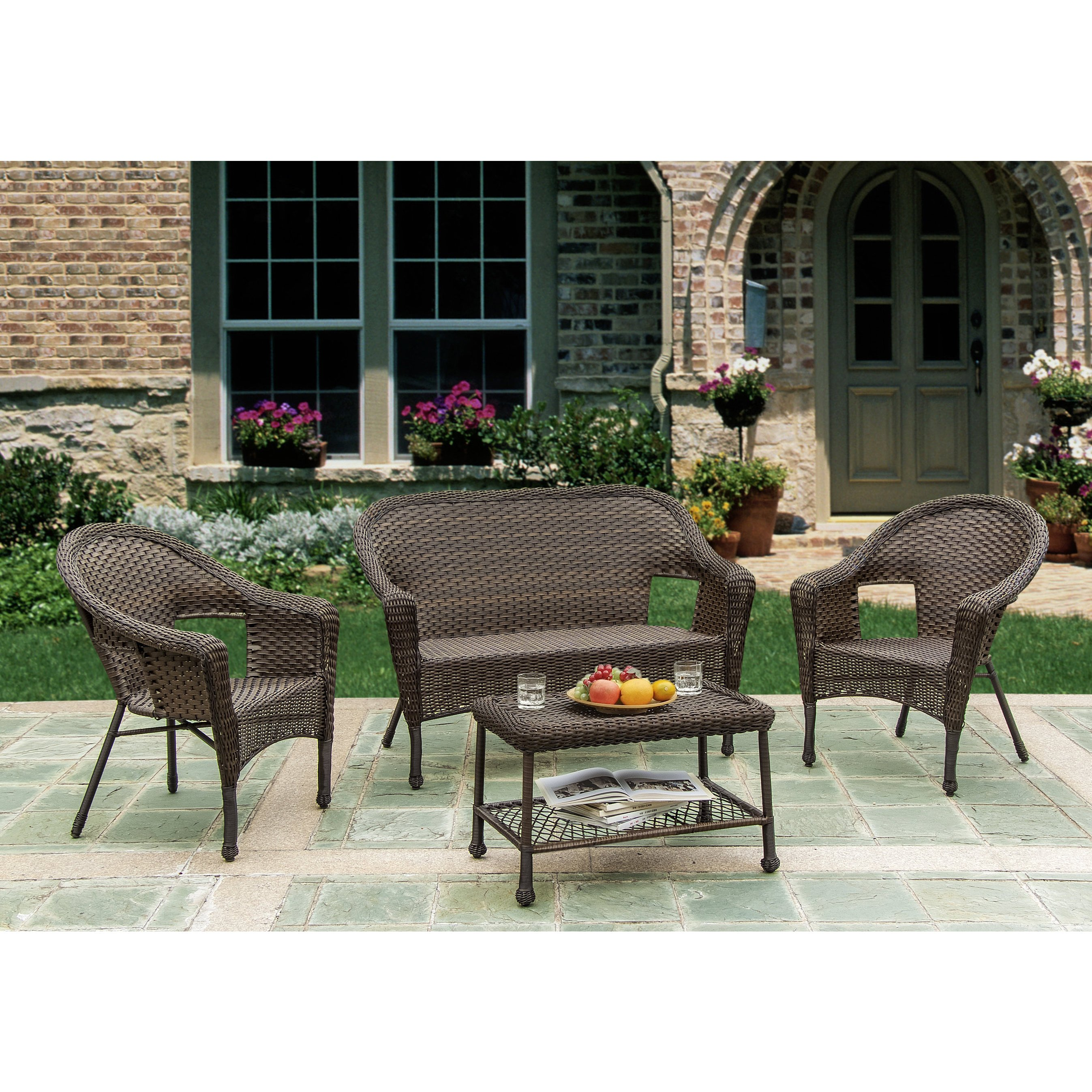 unlimited brown wicker piece outdoor furniture set free storage accent patio table shipping today over the couch shades light coupon glass floor lamp under worlds away round gold