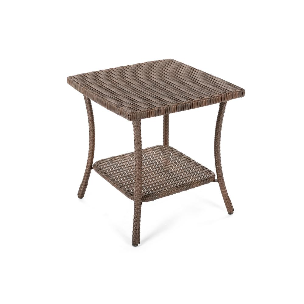 unlimited leisure wicker outdoor side table the tables metal antique round marble top small outside target file cabinet tool storage folding patio solid pine coffee rustic