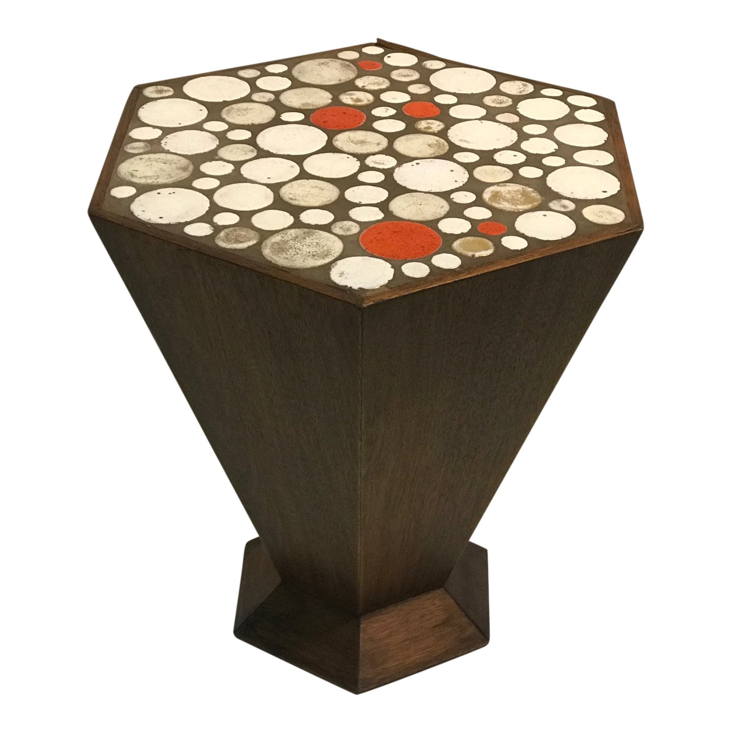 unusual tile accent table with beautiful colored high end tables mixed material zinc coffee west elm bedroom ideas garden chairs set modern light wood hampton bay spring haven