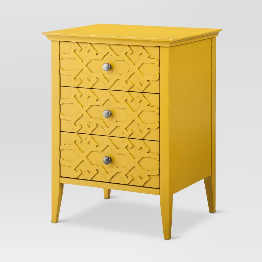upc accent table threshold drawer fretwork yellow target product for summer wheat gold side with marble top tiered metal long skinny coffee seat cushions brass rectangular