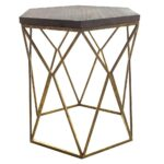 upc accent table threshold metal hexagon with wood top product for oval brass and glass coffee uttermost round end tables furniture living pottery barn office desk drum stool side 150x150