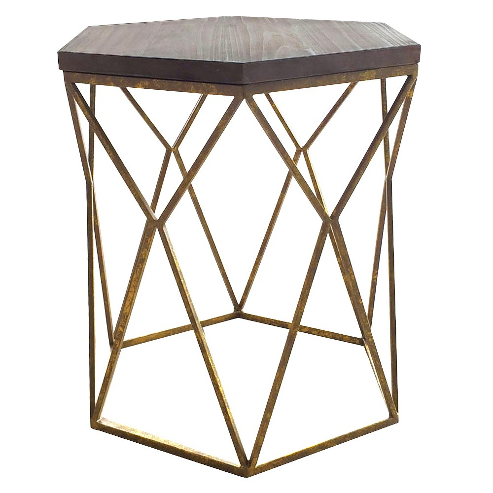 upc accent table threshold metal hexagon with wood top product for oval brass and glass coffee uttermost round end tables furniture living pottery barn office desk drum stool side
