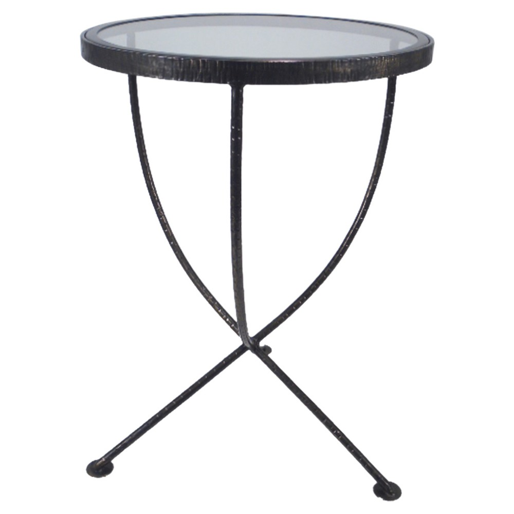 upc accent table threshold round metal and glass product for side with legs beach style living room target nate berkus rug tennis set nautical wall lamps drop leaf folding