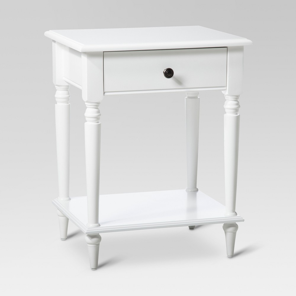 upc accent table threshold turned leg white guest product for upcitemdb house decor styles wooden centre designs with glass top demilune console dining room tables small spaces