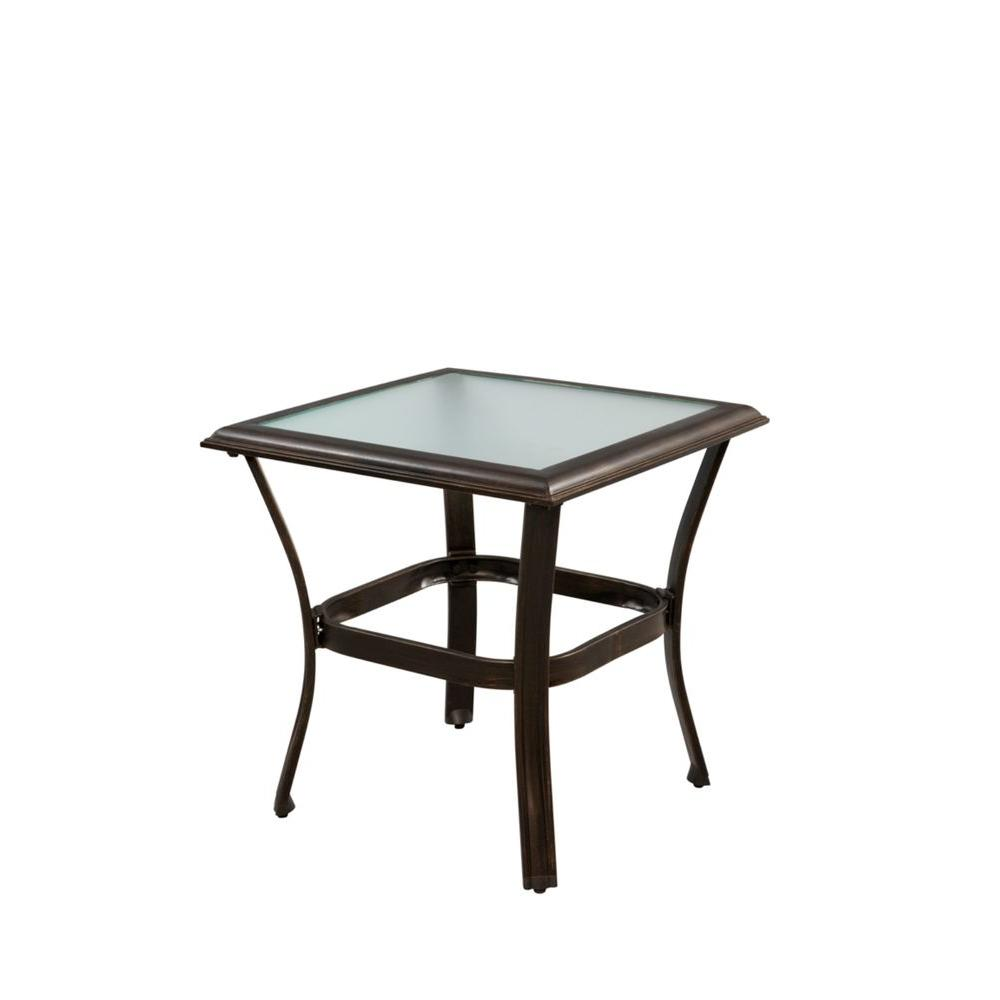 upc hampton bay tables altamira glass top patio side outdoor table product for wide bedside cabinets cube bunnings couch tiffany style desk lamp battery powered living room lamps