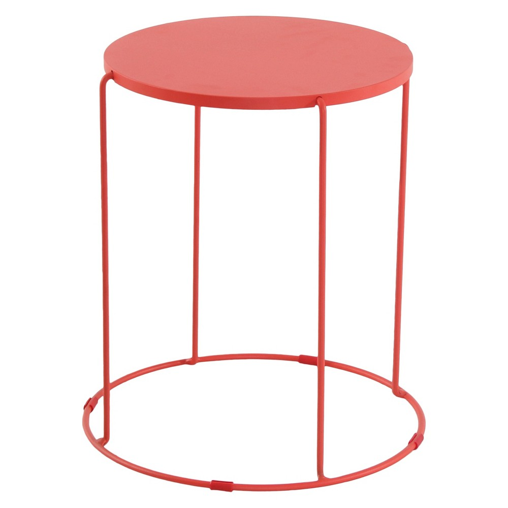 upc patio accent table room essentials metal guest black product for coral wide threshold wood small stool modern style lamps red tables decor reading light round rugs target