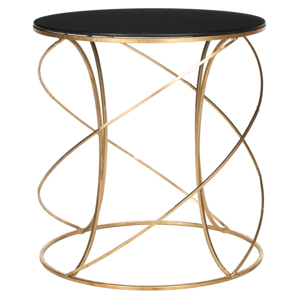 upc safavieh living room tables cagney gold black guest accent table product for couches edmonton novelty lamps steel trestle entrance wall mirimyn round wooden home decor small