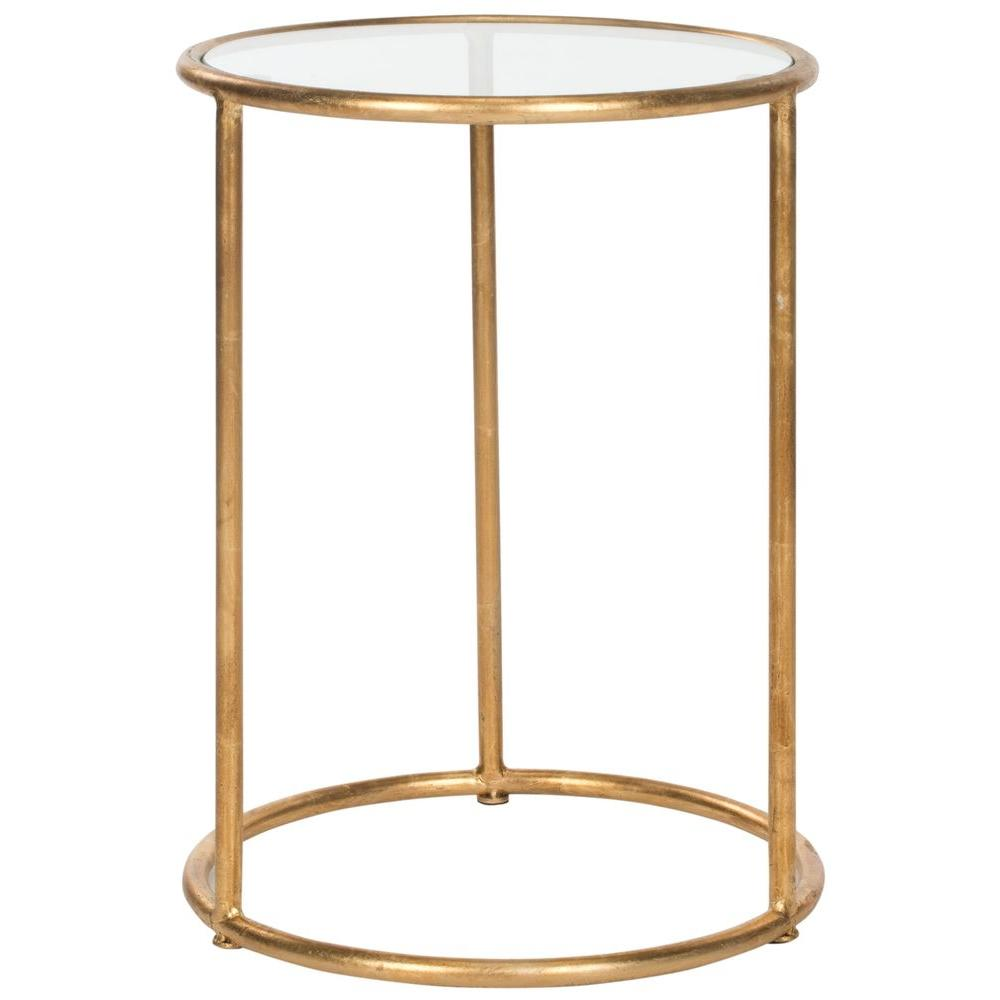 upc safavieh living room tables shay gold accent clear end mirrored glass table with drawer product for hallway mirror cabinet country cottage coffee side small cream aluminum nic