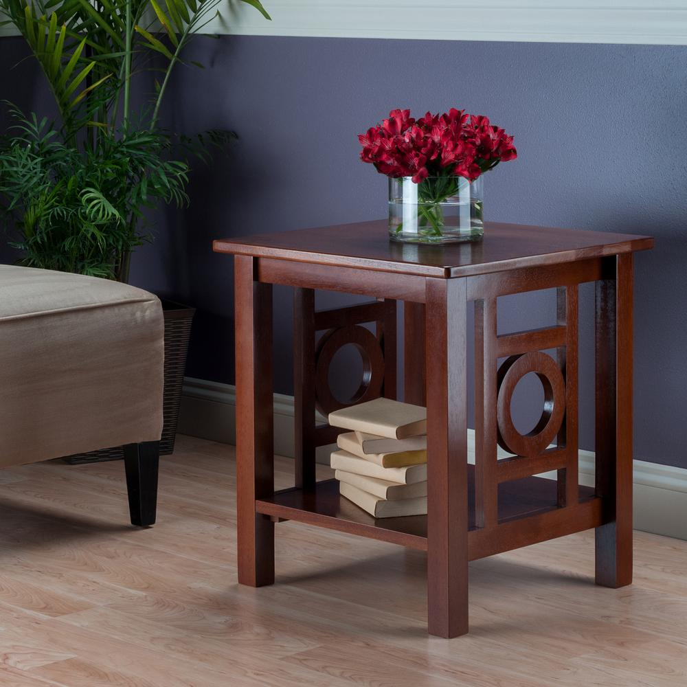 upc winsome ollie end table brown oth upcitemdb walnut wood tables accent product for trading red dining chairs contemporary home decor ikea patio tiny lamp battery operated