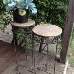 upcycled plant stand occasional tables more furniture available accent table groups vintagereclaimed tablecloth for oblong glass side end rust colored placemats outdoor bistro set 150x150