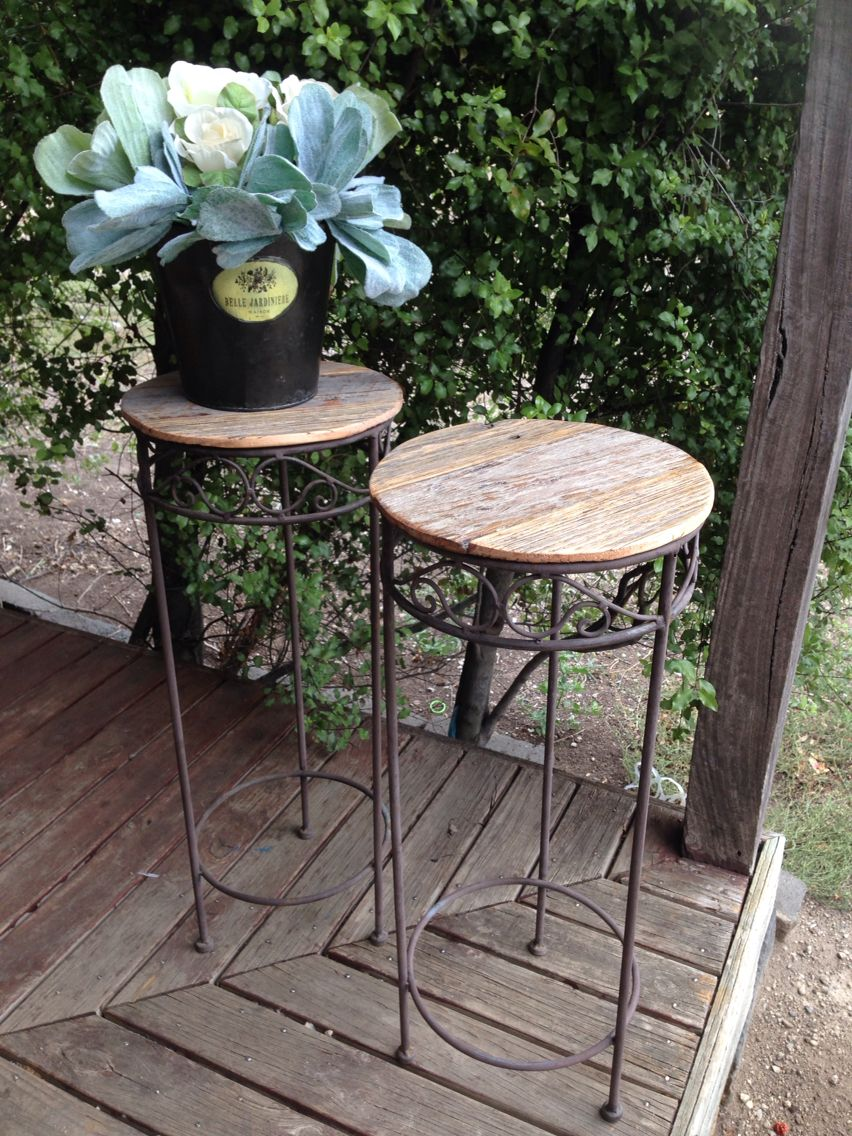 upcycled plant stand occasional tables more furniture available accent table groups vintagereclaimed tablecloth for oblong glass side end rust colored placemats outdoor bistro set
