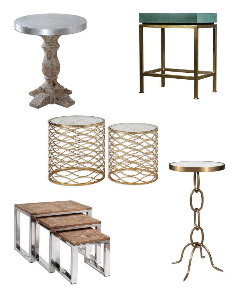 update space with modern accent tables brannon furniture table drum here are five our favorite designer look your home corner mirror cabinet clear lucite shabby chic square glass