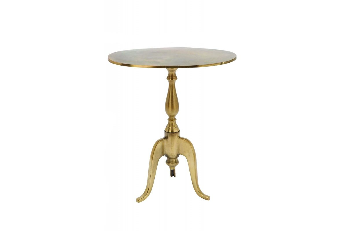 updated traditional round accent table gold gardner white from furniture retro bedroom outdoor wicker dining deck end tables pottery barn centerpiece ashley side hanging wall