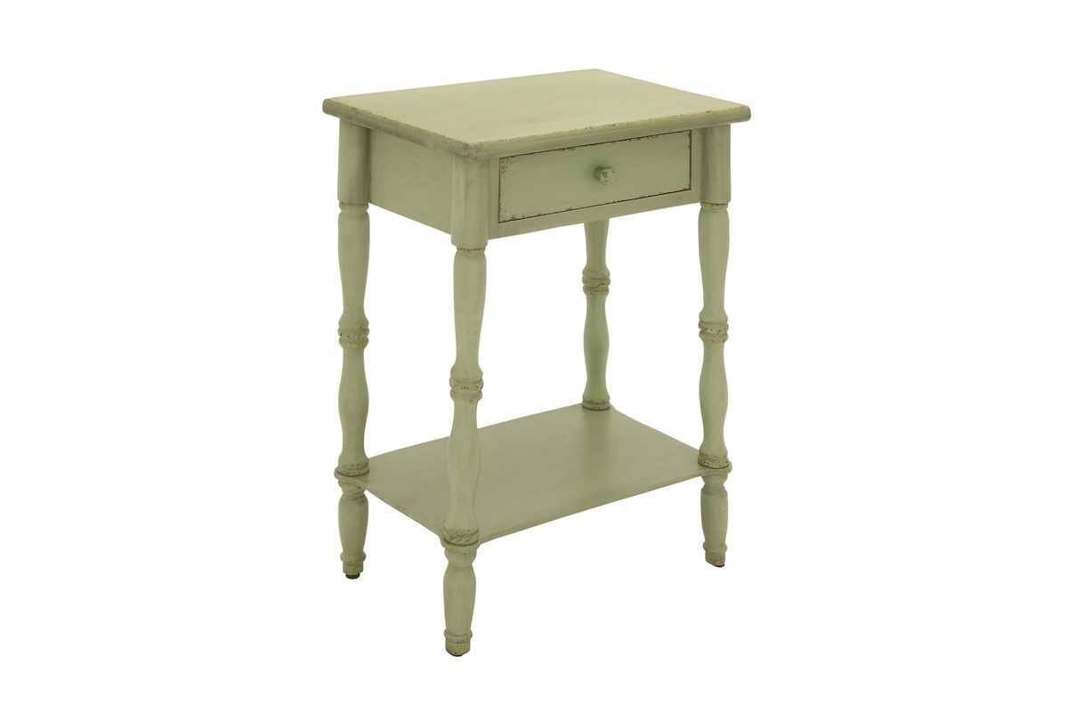 updated traditional square accent table avocado green wood from gardner white furniture round dining set large gold coffee small trestle kitchen counter height with storage